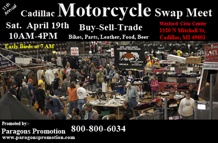 11th Annual Cadillac (Michigan) Motorcycle Swap Meet