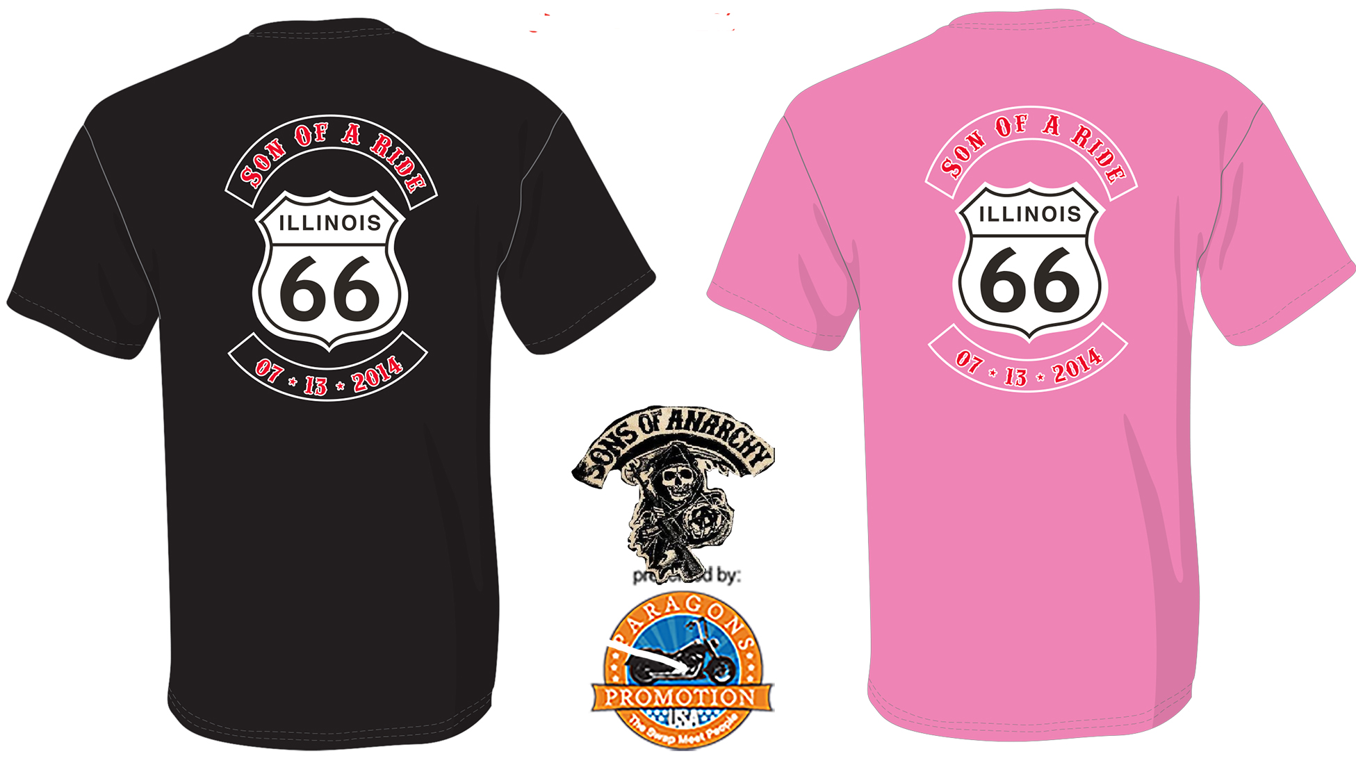 Event T-Shirt, Ride with Tig to Peotone Motorcycle Show